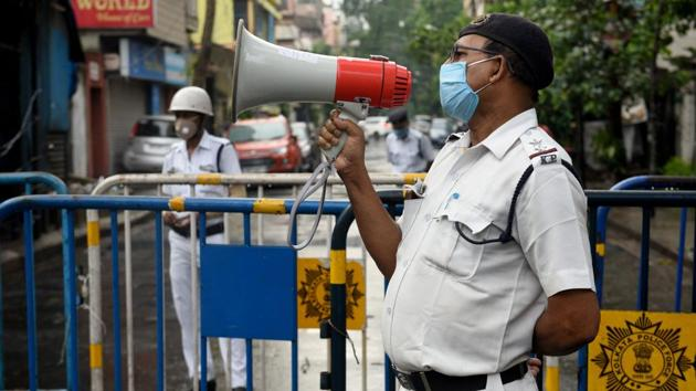 There will be complete lockdown across West Bengal on Thursday and Saturday this week. Next week, the first lockdown will be clamped on Wednesday.(SAMIR JANA/HT PHOTO.)