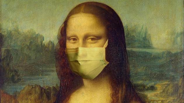 Genevieve Blais' recreation of Leonardo da Vinci's Mona Lisa(Instagram/Plague History)
