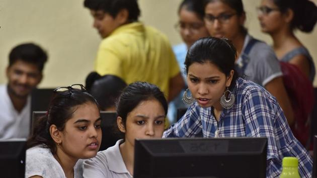 For several college aspirants, however, the uncertainty surrounding the process is proving to be worrisome.(Sanchit Khanna/HT file photo. Representative image)