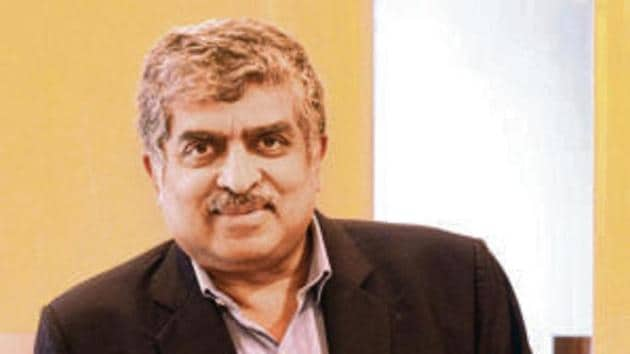 Aadhaar architect Nandan Nilekani says the initiative will help utilise innovative credit products at scale.(HT Photos)