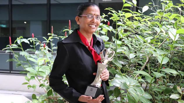 Kala Narayanasamy was among the five nurses given the award, the Ministry of Health announced on Tuesday.(Facebook/Woodlands Health Campus)