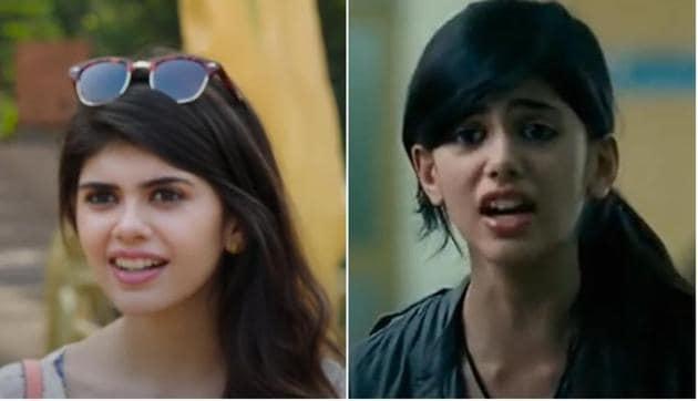 Sanjana Sanghi in Fukrey Returns (L) and Rockstar.