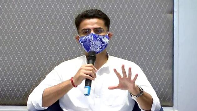 Sachin Pilot has sought an apology from Congress MLA Girraj Singh who had alleged that he had offered him a huge sum of money to cross vote in Rajya Sabha elections(ANI)