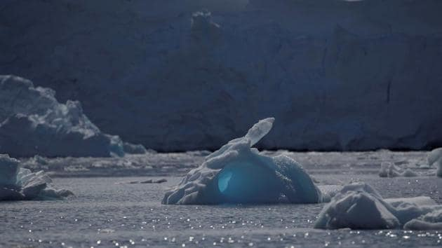 An iceberg floats along the water, close to Fournier Bay, in Antarctica.(Reuters File Photo)