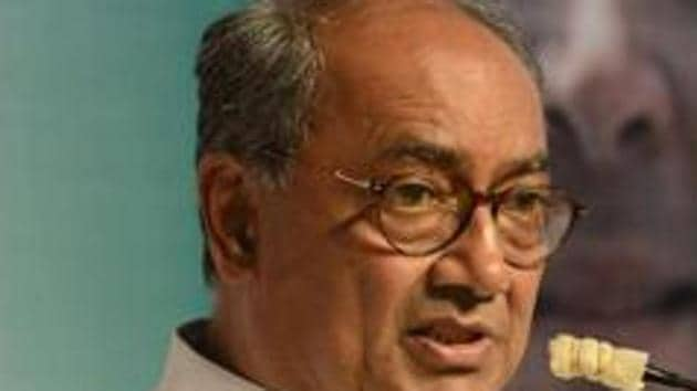 Digvijaya Singh has sent out a series of tweets questioning Twitter's purported blocking of his posts as 'sensitive'.(HT File Photo)