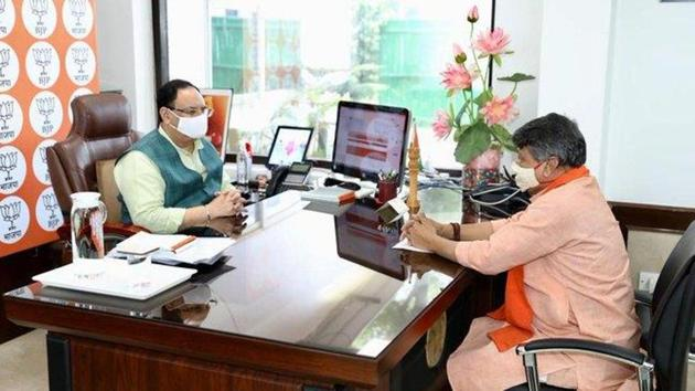 The exercise is being conducted by BJP central leaders such as Arvind Menon, who is in charge of West Bengal, joint general secretary (organisation) Shivprakash and general secretary Kailash Vijayvargiya. (Photo @KailashOnline)