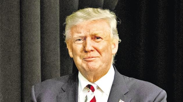 Donald Trump has reversed himself on an increasing number of positions he had taken earlier to get the country back on the rails irrespective of the ferocity of the epidemic that is raging through the south and the west.(AFP)