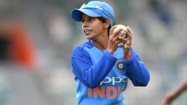India cricketer Poonam Yadav completes a catch.(Getty Images)