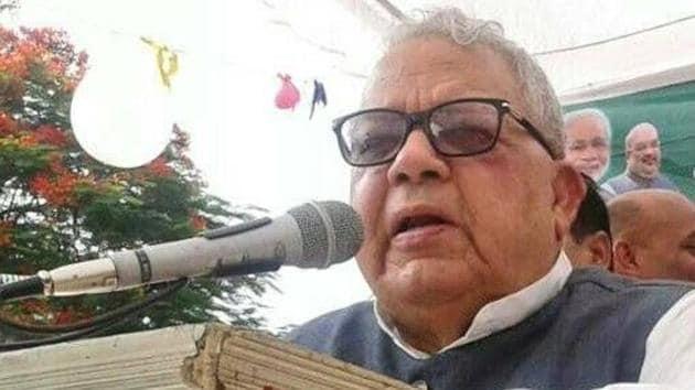 """Kalraj Mishra, Rajasthan governor, said """"dabav ki rajniti nahin chalegi.""""(Facebook/Kalraj Mishra)"""