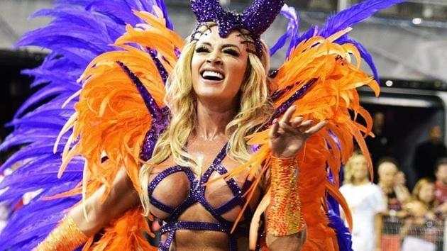 Representational image of a samba dancer during the 2018 Sao Paulo carnival(YouTube)