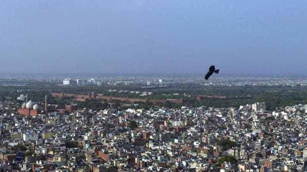 A view of Old City during ongoing Covid-19 lockdown, in New Delhi.(PTI)
