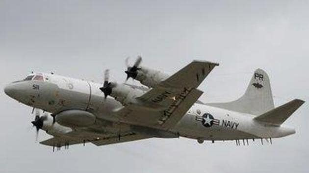 A P-8A anti-submarine plane and an EP-3E reconnaissance plane entered the Taiwan Strait, flying near the coast of Zhejiang and Fujian on Sunday, a report in the Hong Kong-based South China Morning Post (SCMP) said Monday. (Photo @is_keelu)