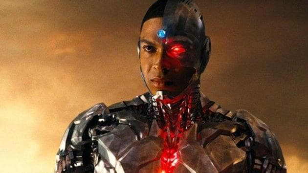 Ray Fisher as Cyborg in a still from Justice League.