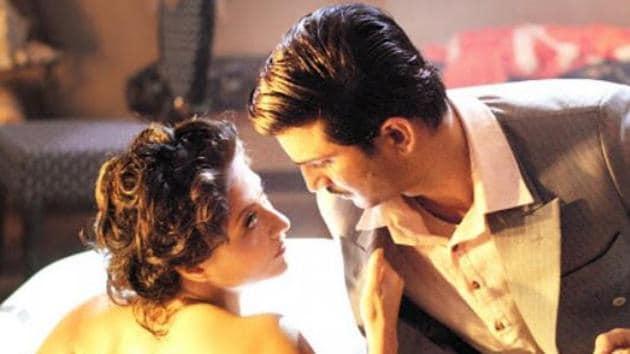 Swastika Mukherjee and Sushant SIngh Rajput in a still from Detective Byomkesh Bakshy!.