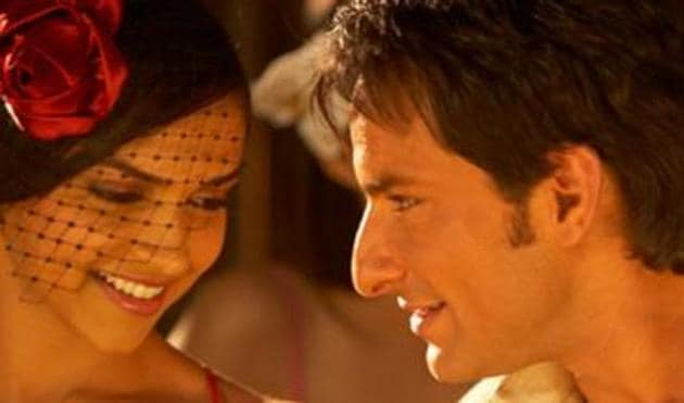 Deepika Padukone and Saif Ali Khan in a still from Love Aaj Kal.
