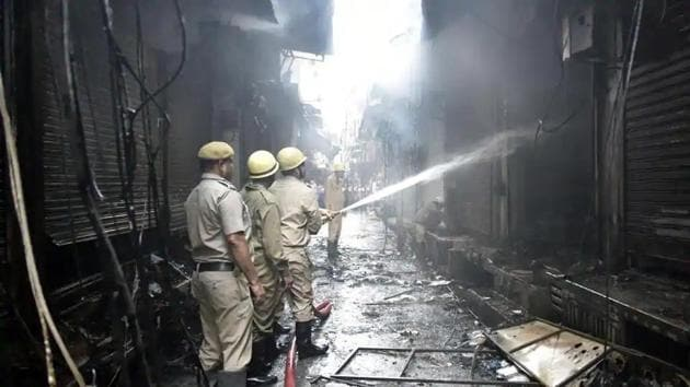 A 12-day-old baby is among those critically injured in the fire incident.(Sonu Mehta/HT File Photo)
