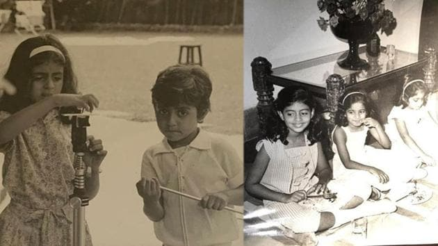 Abhishek and Shweta Bachchan have shared their childhood pictures on Instagram.