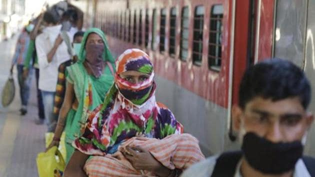 Work on railway infrastructure projects is returning to the previous year's level, railway board chairman VK Yadav told Hindustan Times(AP)