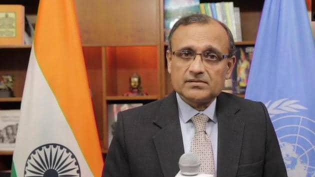 India's permanent representative to the United Nations, TS Tirumurti.(ANI Photo)