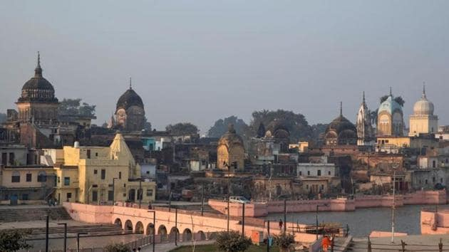 A general view of Ayodhya is seen. The temple town is all set to witness the groundbreaking ceremony of Ram mandir bhoomi pujan on Wednesday.(REUTERS)