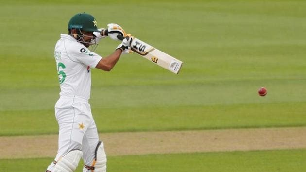 Cricket - First Test - England v Pakistan - Emirates Old Trafford, Manchester, Britain - August 5, 2020 Pakistan's Babar Azam in action, as play resumes behind closed doors following the outbreak of the coronavirus disease (COVID-19) REUTERS/Lee Smith/Pool (REUTERS)