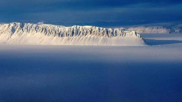 The Milne Ice Shelf is at the fringe of Ellesmere Island, in the sparsely populated northern Canadian territory of Nunavut.(Reuters)