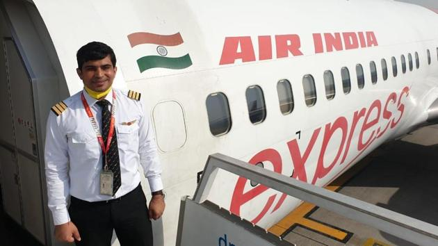 Co-pilot Akhilesh Sharma of the Air India Express flight which crash landed at Kozhikode on Friday evening. Neither of the two pilots survived the horrific crash.(HT PHOTO.)