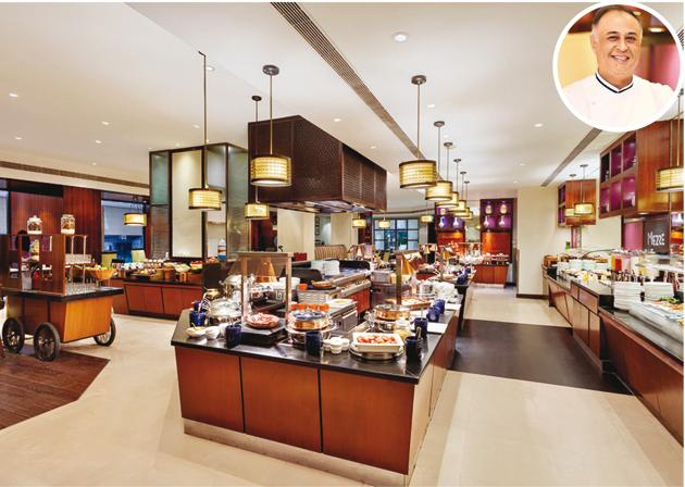 Flavours by ITC serves coffee-shop or room service food; The Maurya has an outstanding executive chef in Rajdeep Kapoor (inset).