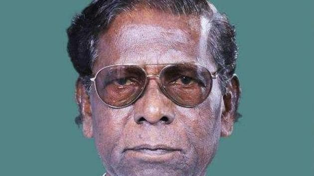 Born on July 1, 1942 at Bholakpur in Hyderabad, Yellaiah, a prominent Dalit leader of the Congress, began his political career as a follower of former chief minister Dr Marri Channa Reddy.(HT PHOTO.)