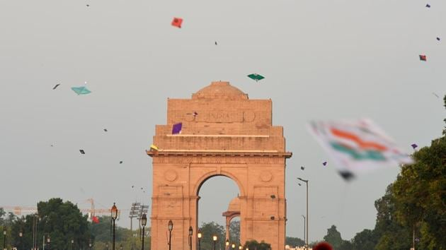 In Delhi, places like India Gate would turn into hubs of kite flying during Independence Day celebrations.(Photo: Amal KS/HT)