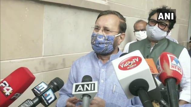 Union Environment Minister Prakash Javadekar said it was unfair to criticise the draft EIA.(ANI)