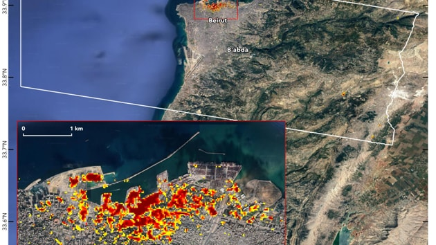 NASA maps damage caused by Beirut blast using satellite data - Hindustan Times