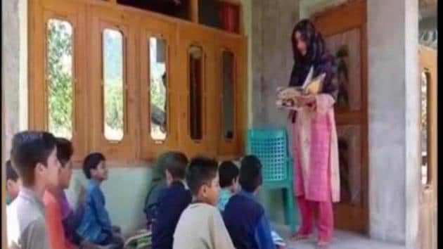 Mahfooza Akhtar is going extra mile to spread awareness regarding importance of education.(ANI)