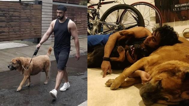 Amit Sadh with his pet Liam.