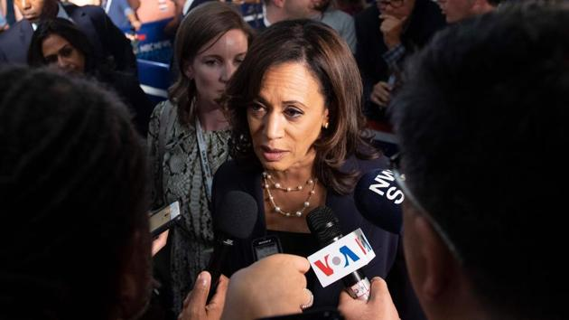 Kamala Harris, who has roots in India on her mother's side and in Jamaica on her father's side, is the first woman of Indian and African descent to run for the post of vice president.(AFP)