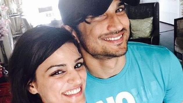 Sushant Singh Rajput poses with his sister, Shweta.