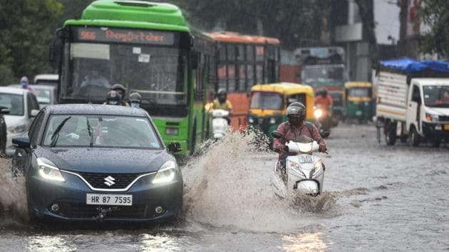 Above normal monsoon rains are expected in August and September because of several consecutive low-pressure areas forming over the Bay of Bengal.(Sanchit Khanna/HT PHOTO)