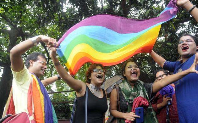 Respect, solidarity and equal rights are some of the things that denote freedom to the LGBTQI+(Photo: Samir Jana/HT. For representational purpose only.)
