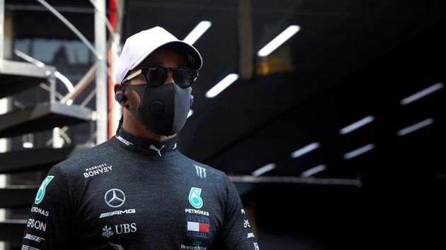 Mercedes' Lewis Hamilton during practice(REUTERS)