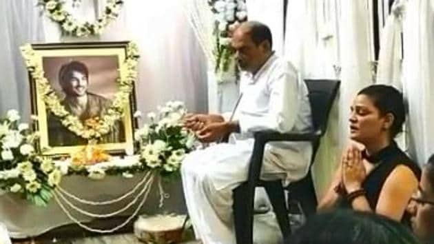 A prayer service was conducted at Sushant Singh Rajput's family home in Patna.