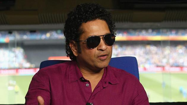 Sachin Tendulkar speaks to the media during the 2015 ICC Cricket World Cup match between South Africa and India at Melbourne Cricket Ground on February 22, 2015 in Melbourne, Australia.(Getty Images)