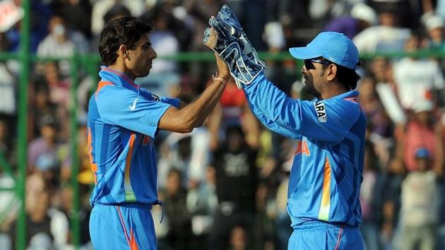 Ashish Nehra played his last ODI under MS Dhoni.(Getty Images)