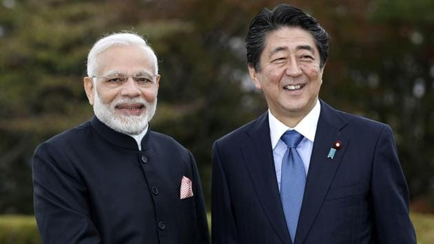 The India-Japan virtual Summit between Prime Minister Narendra Modi and Japan's Prime Minister Shinzo Abe is expected to be held in September(Suo Takekuma/Kyodo News via AP)