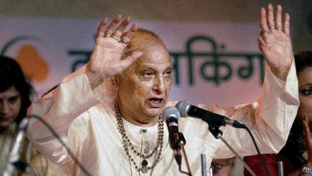 In this file photo, dated Dec 12, 2014, Classical Vocalist Pandit Jasraj performs at the 62nd Sawai Gandharva Bhimsen Mahotsav in Pune. Jasraj, one of the most renowned exponents of Hindustani Classical music passed away on Monday, August 17, 2020.(PTI)
