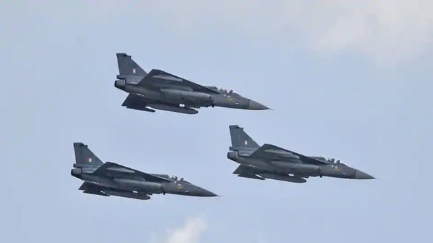The Tejas light combat aircraft were moved from their home base in Sulur in Tamil Nadu.(PTI FILE PHOTO)