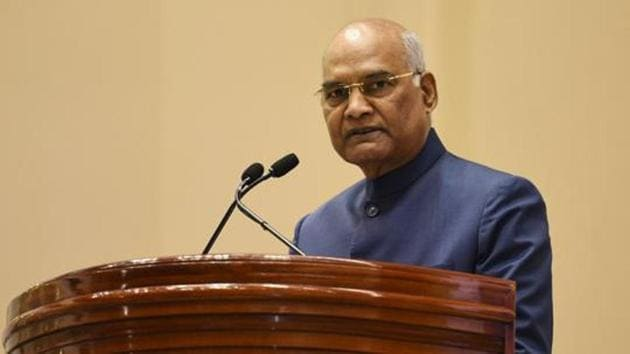 President Ram Nath Kovind has given his nod to changing the name of HRD ministry to ministry of education.(Vipin Kumar/HT Photo)