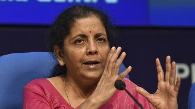 Finance Minister Nirmala Sitharaman.(PTI)