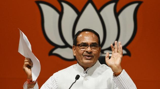 MP CM Shivraj Singh Chouhan's move is aimed to provide ration to poor people without access to the public distribution system.(Raj K Raj/HT PHOTO)