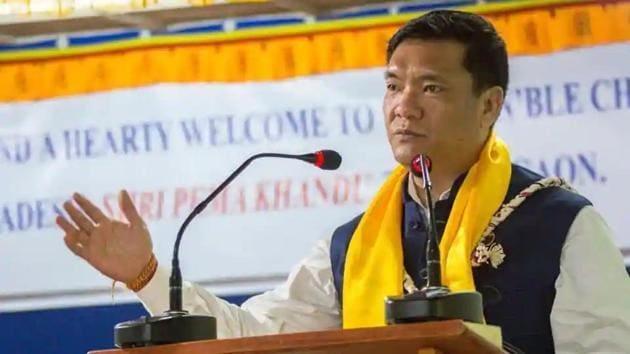 Arunachal Pradesh Chief Minister Pema Khandu.(HT file)