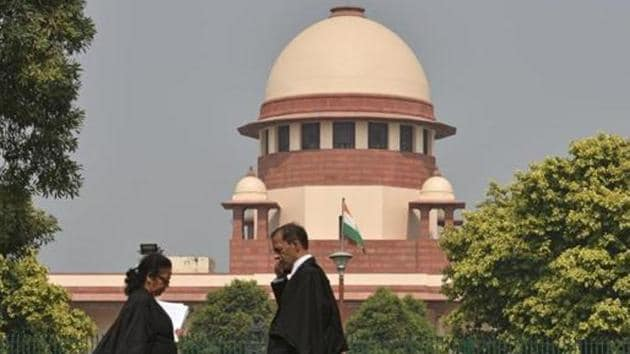 The exact date on which the physical hearing will resume in Supreme Court is not clear yet.(Sanchit Khanna/HT Photo)